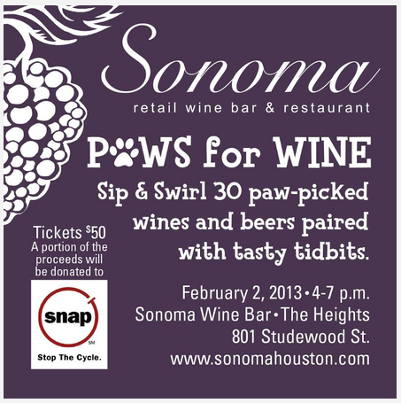 Sonoma Paws For Wine